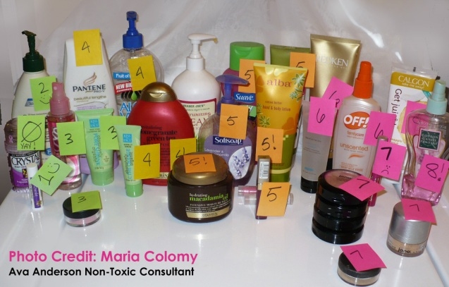 Toxic Products including shampoo, lotion, mineral makeup, organics and more.